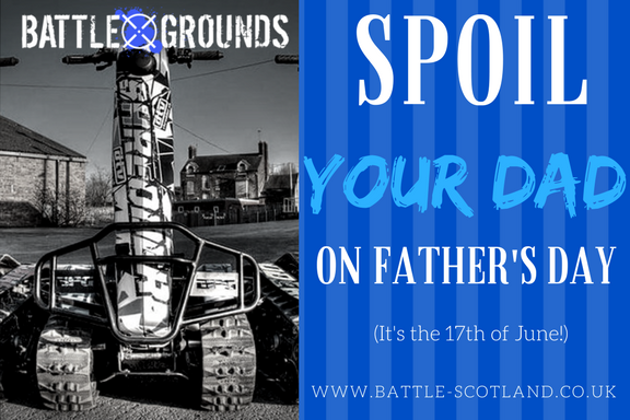 Image for #Fathersday is just around the corner and there is literally only ONE CHOICE this year - get him a DTV shredder experience he won't forget at Battle Grounds next to #Banchory with a #giftvoucher. Adrenaline guaranteed and brownie points #inthebag https://