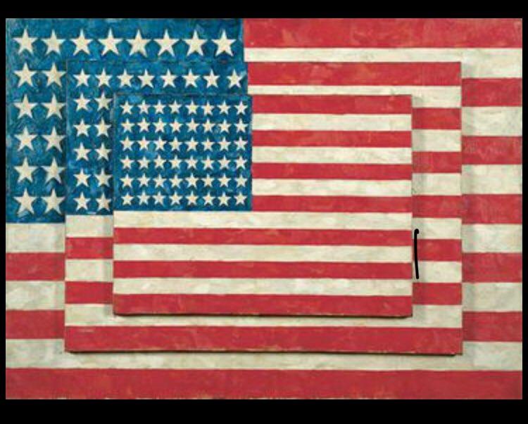 Happy Birthday Jasper Johns, born May 15, 1930. Three Flags - 1958.
