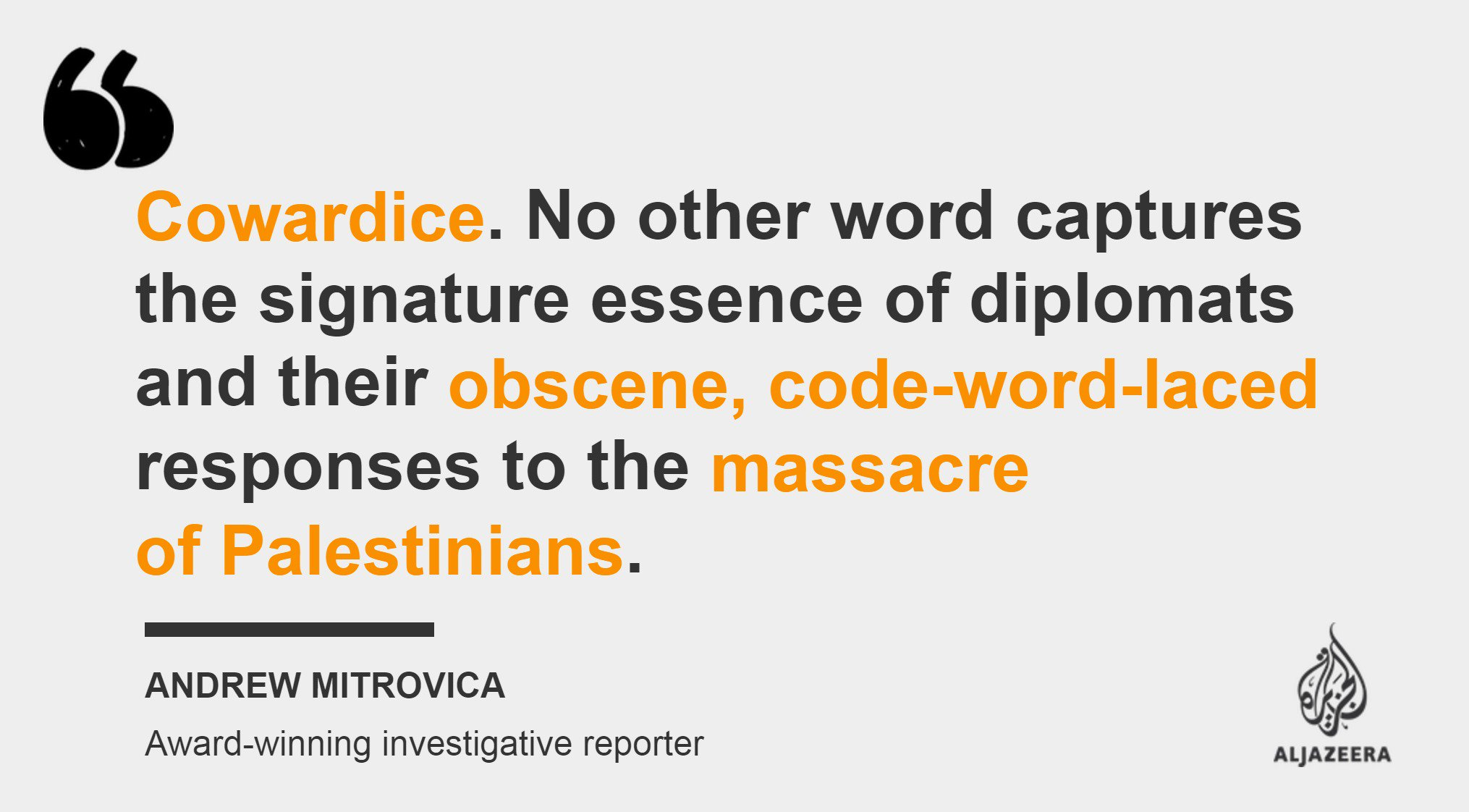 The Gaza massacre exposed international cowardice https://t.co/NorFKWZbQC — #AJOpinion https://t.co/dNs8NMAi9r