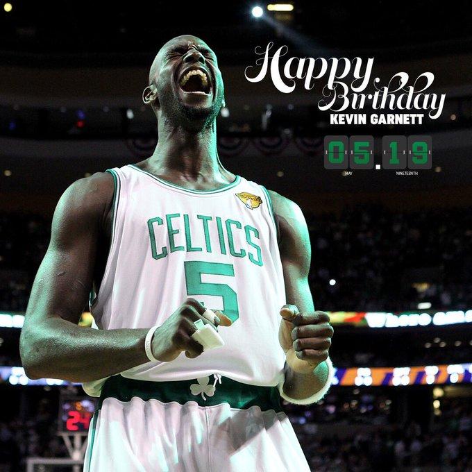 Happy birthday Kevin Garnett . Celtic legend. Enjoy your day