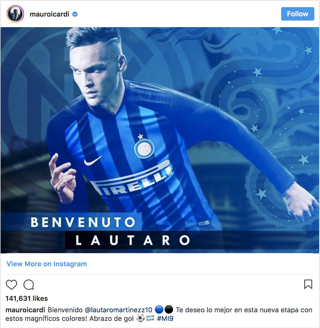 More in the tabloids that Chel icardi