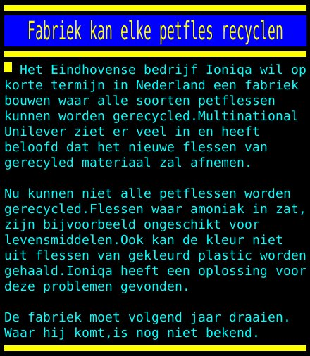 test Twitter Media - Fabriek kan elke petfles recyclen https://t.co/0av8g59Jre