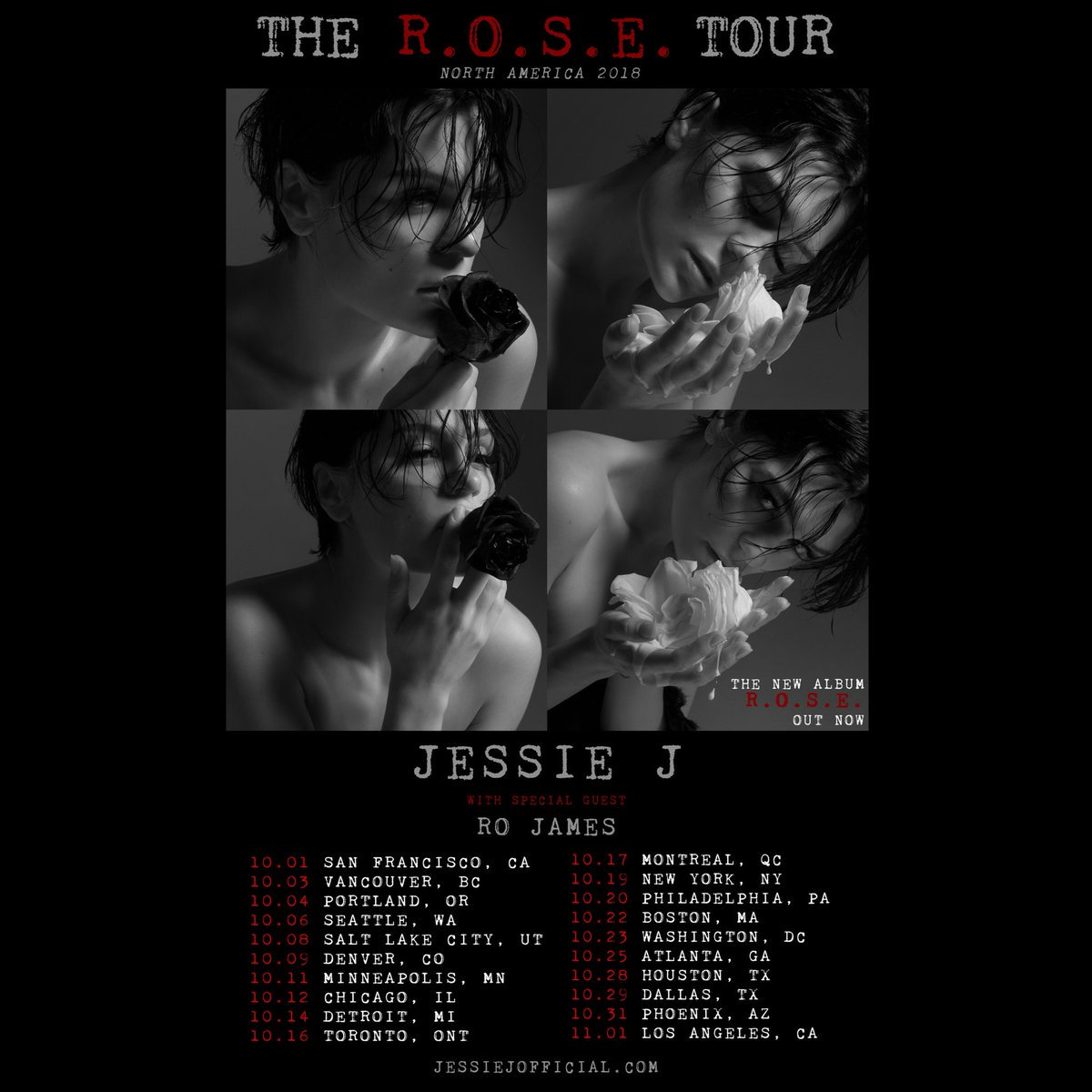 RT @UMG: #ICYMI - @JessieJ is hitting the road on THE R.O.S.E. TOUR! Tickets on sale tomorrow at 10 a.m. https://t.co/2fkelzHAJ7