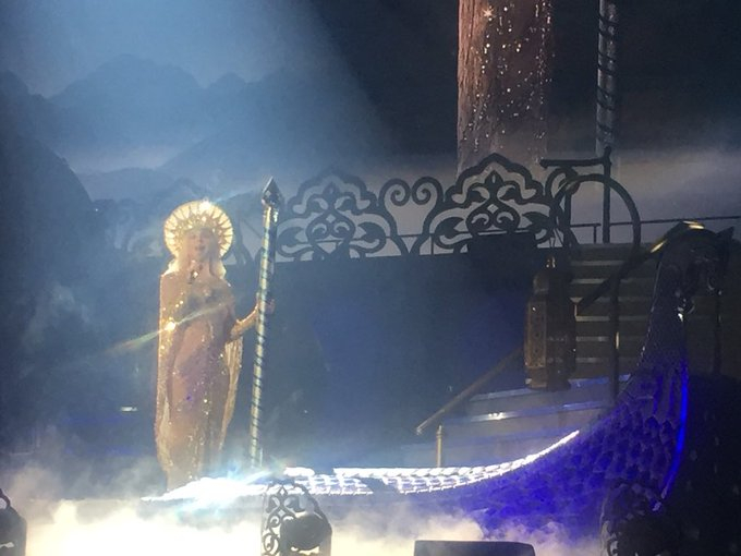 4 weeks ago, Cher, Vegas. Dressed as the Virgin Mary on a gondola....happy birthday