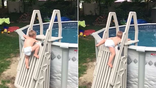 test Twitter Media - VIDEO: A family in Massachusetts is warning parents after their toddler climbed a gate that is supposed to stop children from getting into a pool. WATCH >> https://t.co/67DShpQeZ5 https://t.co/sjM3KD8ZsC