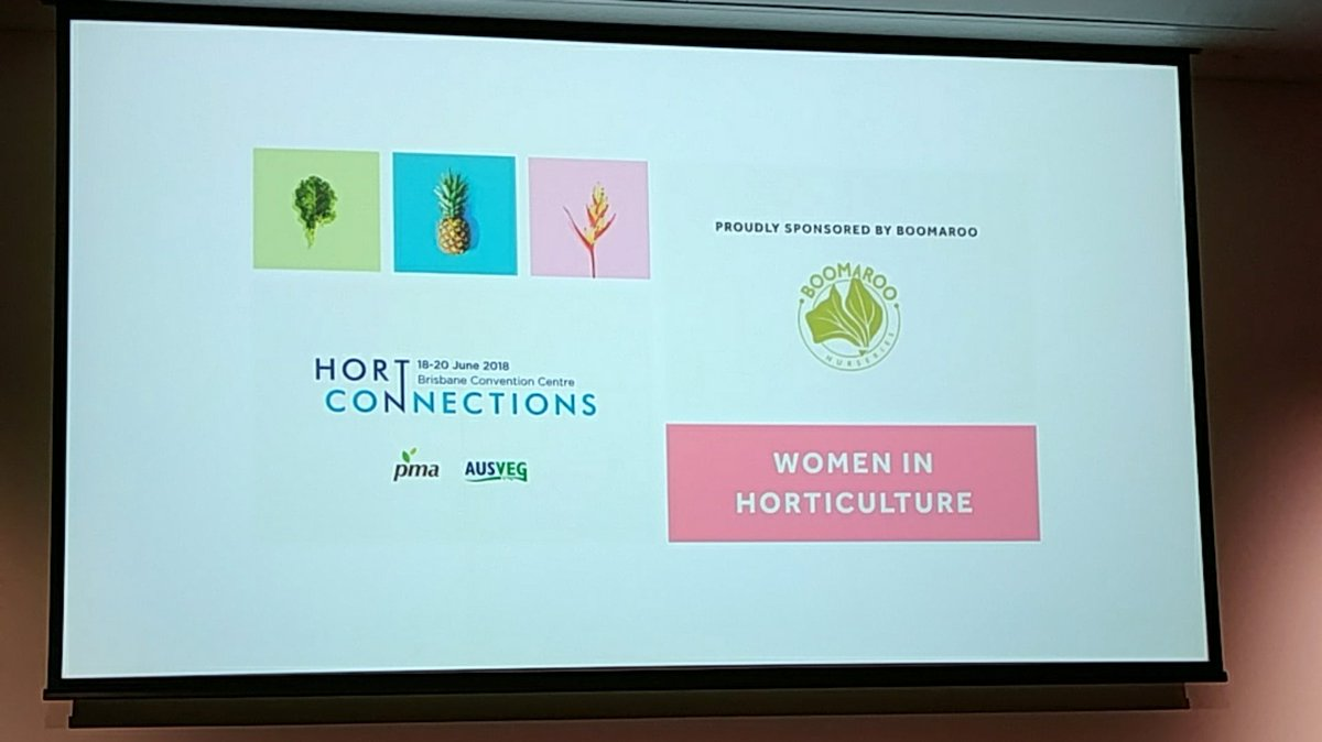 .@pipcourtney MC at today's #HortCon18 Women in...