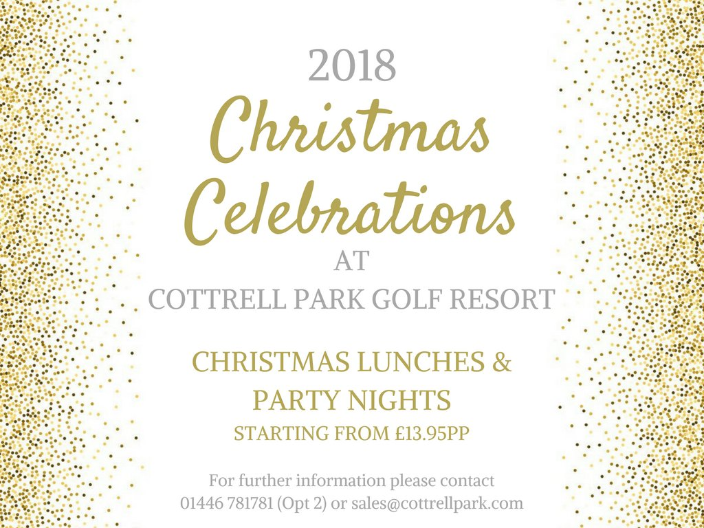test Twitter Media - There are only 165 Days until Christmas, so surely it's time to start planning those festive nights out!?🥂🌲  Here at Cottrell Park we'll be hosting Christmas Lunches throughout December or why not book a Private Christmas Party in our Tyler's Cabin? https://t.co/uL3DcDoqeT