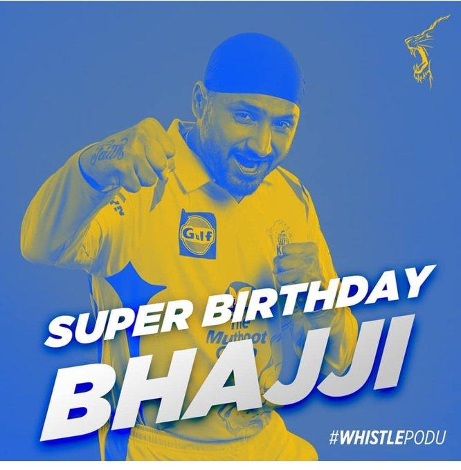 Happy birthday Bhajji paaji !! Have a beautiful day   ...