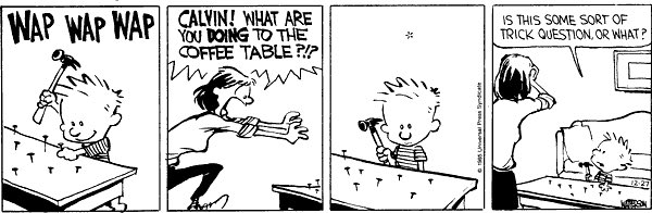 Happy Birthday cartoonist Bill Watterson. Of all his CALVIN AND HOBBES strips, this might be my favorite.