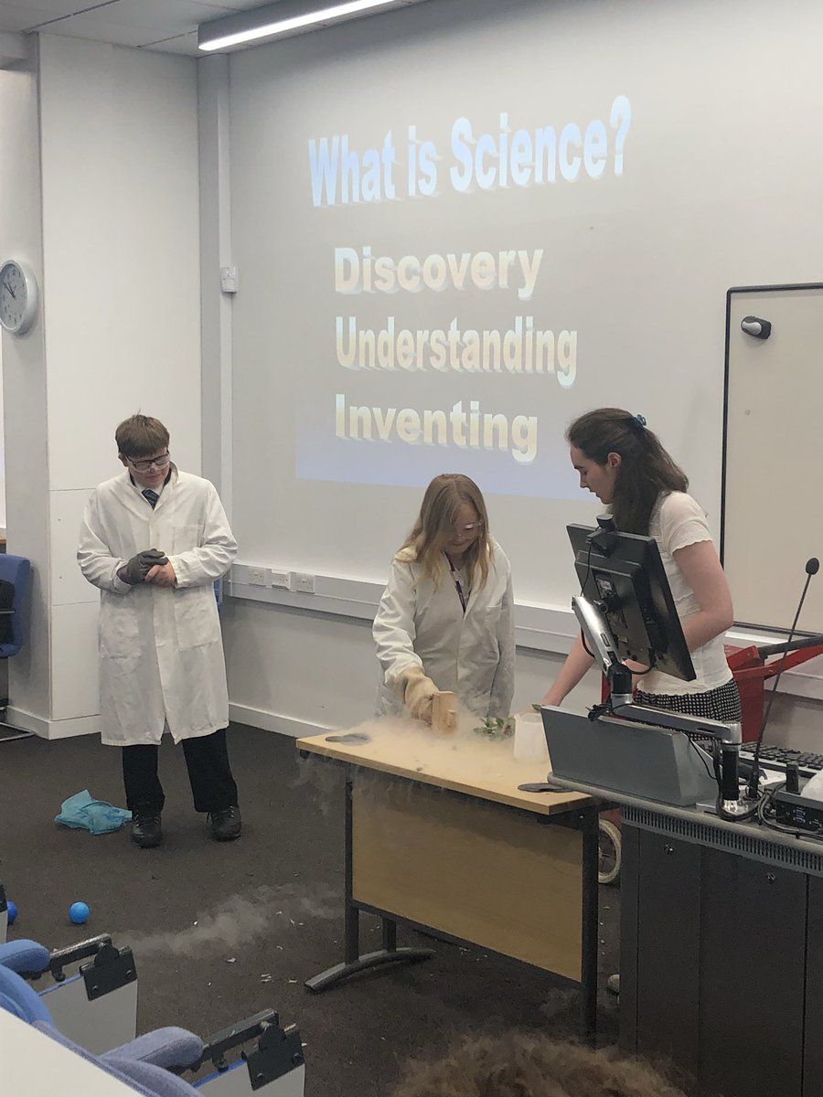 test Twitter Media - The first stop on the rewards trip was to @LivUni where learners modelled particles and played with liquid nitrogen! https://t.co/SrRiMCf9Vx