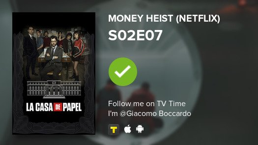 test Twitter Media - I've just watched episode S02E07 of Money Heist (Net...! #moneyheist  #tvtime https://t.co/Zj9SQKzoAg https://t.co/8bF2XIxoiv