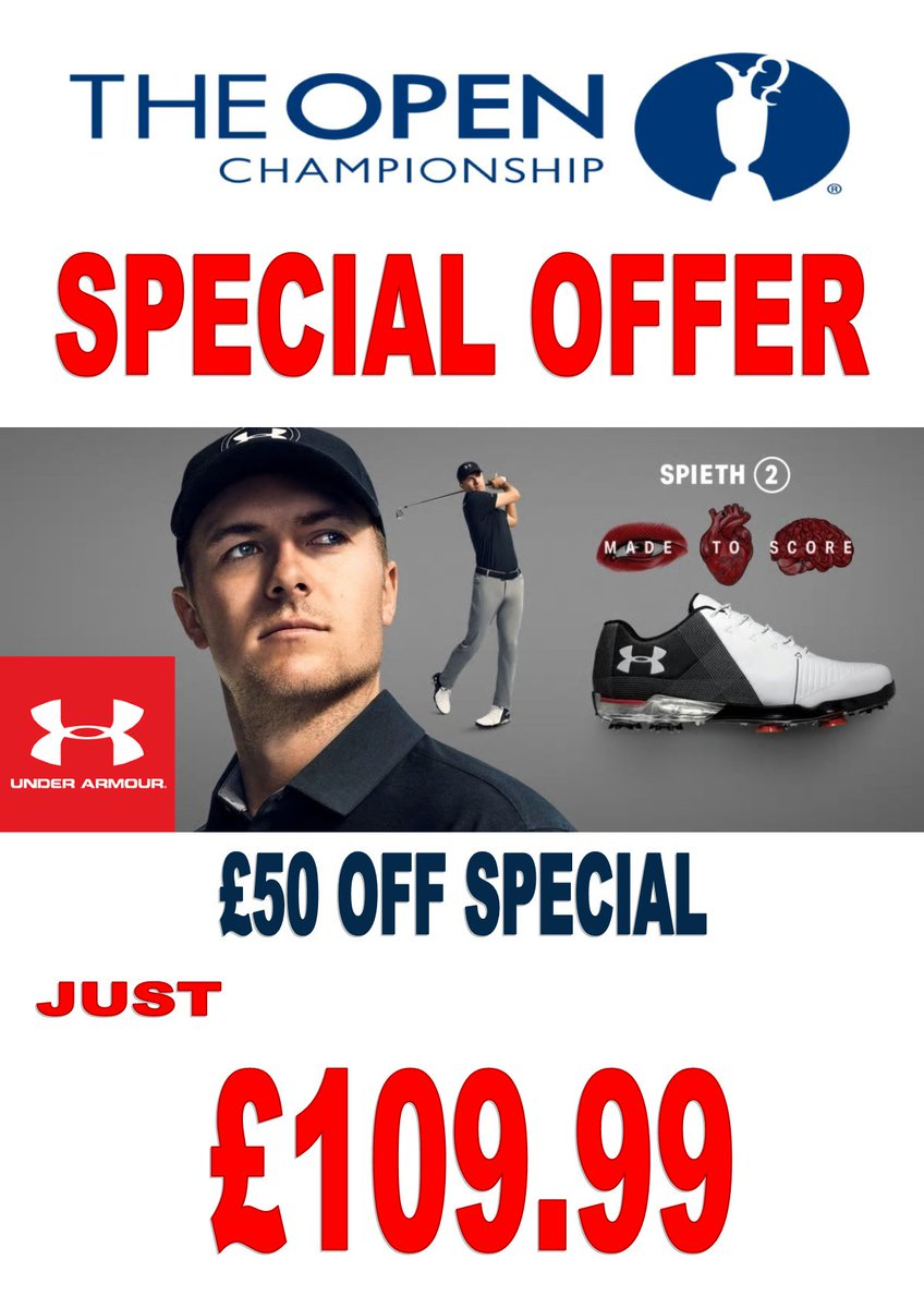 test Twitter Media - #TheOpen is now under way! To celebrate we have this fantastic #SpecialOffer   @UnderArmour @JordanSpieth 2.0 #Golf Shoes just £109.99!! £50 OFF!!!  HURRY!! Limited Stock Available.  For more information visit https://t.co/sjYK8ua007   or call us on 01446 781781 (opt. 1) https://t.co/mZbePIzlFj
