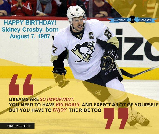 Sidney Crosbys Birthday Celebration Happybday