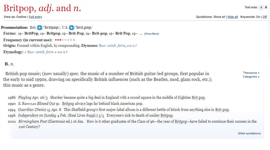test Twitter Media - 23 years ago today the 'Battle of Britpop' was initiated, as @blurofficial and @oasis simultaneously released singles 'Country House' and 'Roll With It'. 'Britpop' has had an entry in the OED since 2001! https://t.co/yIzdK6p89y