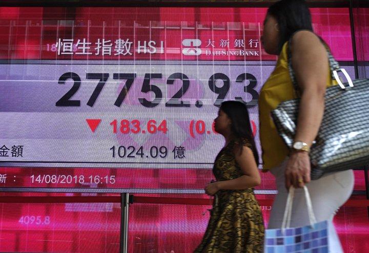 @BroadcastImagem: Bolsas asiáticas fecham em baixa influenciadas por tecnologia e Turquia. Vincent Yu/AP