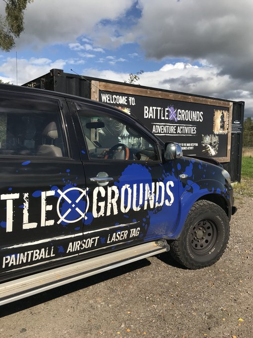 Image for Blue skies on site over the weekend with a new customers and staff alike on the go! Shredders, mini-paintball, paintball, laser tag, bubble football, wilderness challenge and knife and axe throwing all in full swing #fun #sunnysunday #fivestar https://t.c