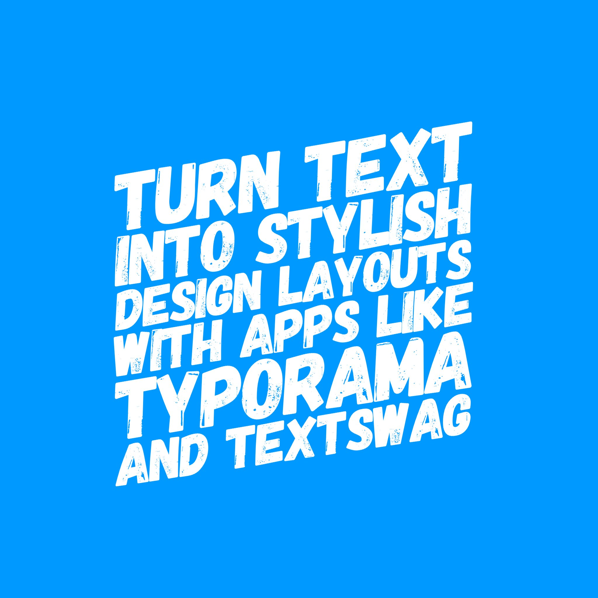 Tip Tuesday! Instantly turn text into stylish design layouts with apps like Typorama (iOS) and TextSwag (Android). Both are free. https://t.co/kDliW2EAqe