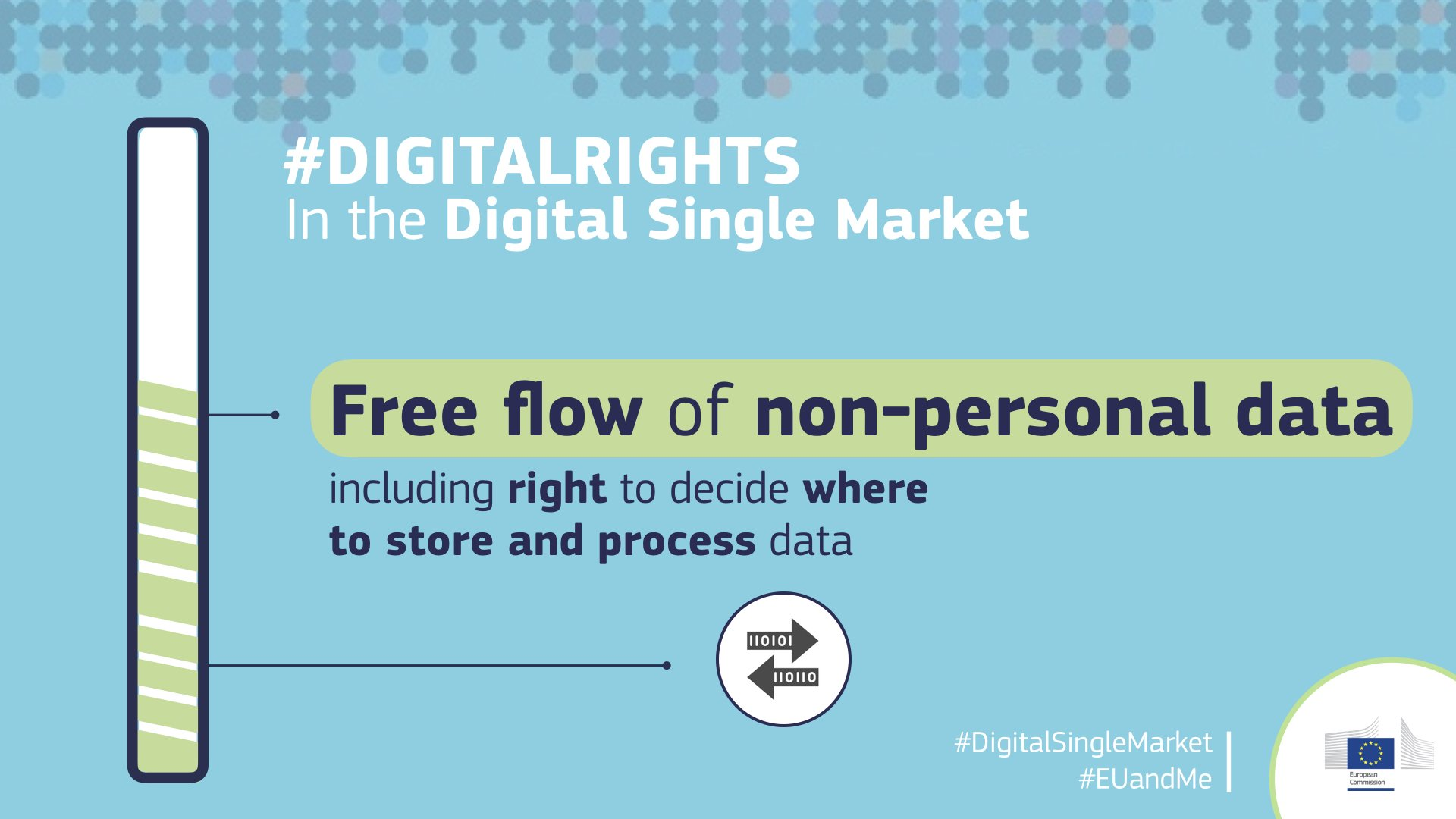 From December 2018 you'll benefit from the free flow of non-personal data #fifthfreedom complementing free movement of people/goods/services/capital. You'll have the right to decide where in the EU you store & process all types of data #freeflowofdata #digitalrights #AI #EUandMe https://t.co/wr9NJQBxPY