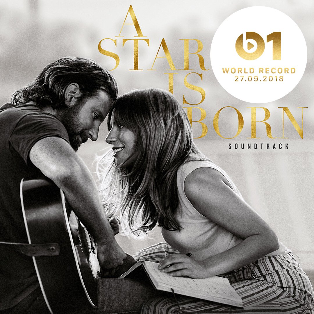 """Shallow"" from #AStarIsBorn is @zanelowe's World Record tomorrow morning at 9:30am PT on @beats1 ???? https://t.co/la8VEnzTA9"