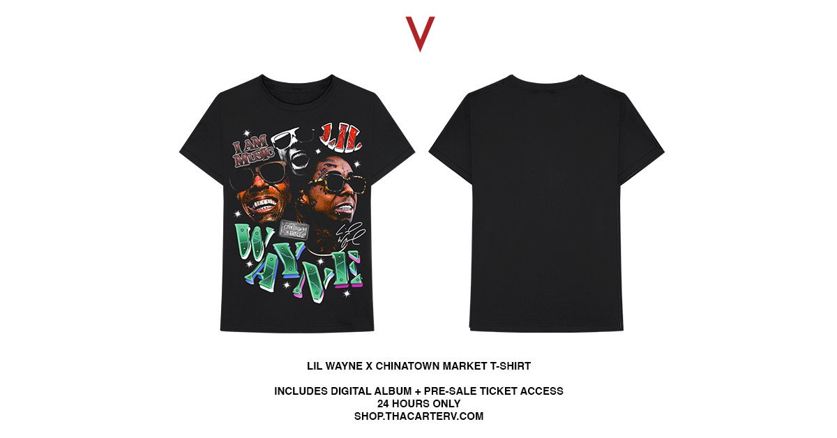 #ThaCarterV x Chinatown Market t-shirts available for only 24 hours on https://t.co/H5JxC3vgQg https://t.co/3s2OxrVT30