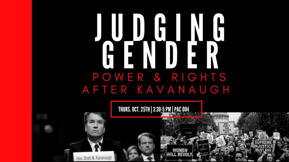 test Twitter Media - Join Feminist, Gender, and Sexuality Studies on 10/25 for a teach-in/speak out on #genderpolitics after #Kavanaugh. Reproductive rights, #MeToo and the courts. Talks by Judith Resnik of @YaleLawSch and @ProChoiceCT Exec Director Sarah Croucher. 10/25: https://t.co/454QTfyhRG https://t.co/VhUw5gAgfd