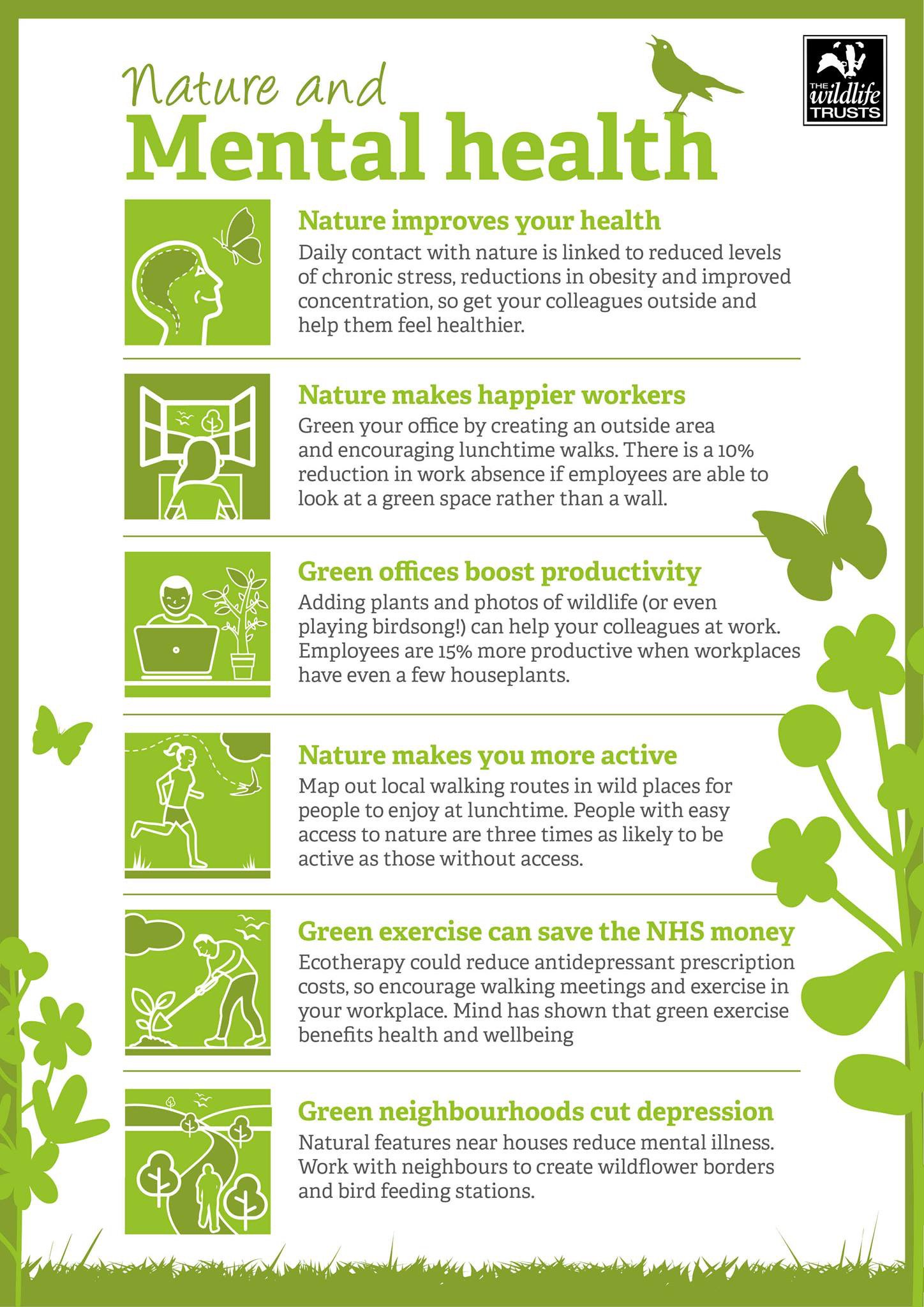 We've been banging on about getting outdoors and enjoying your local parks and green spaces! Well we're glad to say nature helps your mental health too @HMWTBadger #HertsYOPA18 #MentalHealth https://t.co/AbZ0SFd4LB