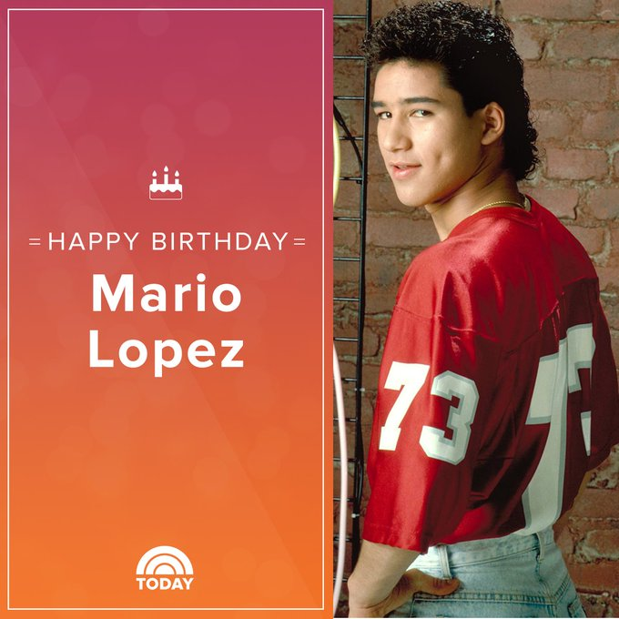 Happy 45th birthday, Mario Lopez!