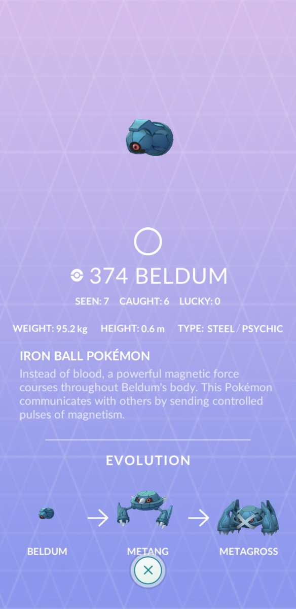 Enter Beldum Community Day, this catch/seen count is ready to reach for space. https://t.co/Hc7g50UN2s