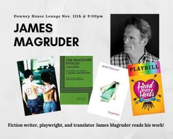 test Twitter Media - Fiction writer James Magruder of @HOHmusical and author of Sugarless will be reading his work, followed by a Q&A, in Downey House Lounge tonight, 9-10 pm. Don't miss your chance to meet this master of the craft! 📝  https://t.co/0arUYn6Lt1 https://t.co/RR494eukkF