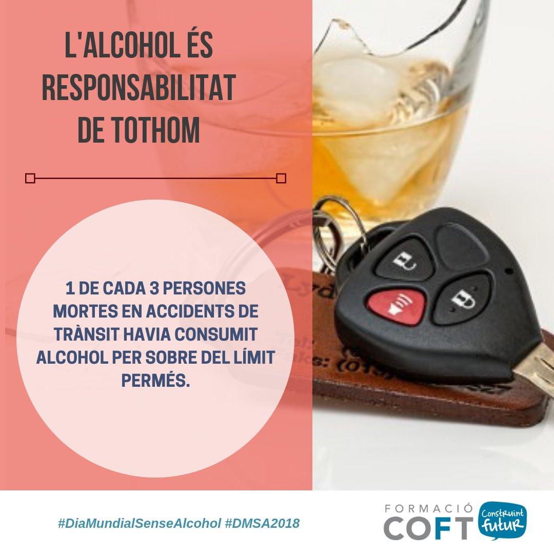 test Twitter Media - 1 de cada 3 persones mortes en accident de trànsit havia consumit alcohol. L'alcohol és responsabilitat de tothom. Vine a les xerrades informatives x la prevenció del consum d'alcohol del dia 15/11 al @COFTarragona + info: https://t.co/e6kYV6qQZ0 #diamundialsensealcohol #DMSA2018 https://t.co/IeuMJXUT5d