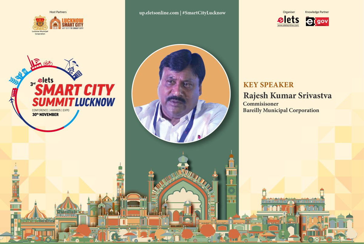 test Twitter Media - We welcome Rajesh Kumar Srivastva, Commissioner, Bareilley Municipal Corporation as a key speaker at #smartcitylucknow to be held on Nov 30.  For more info visit: https://t.co/rHaOMH2X29 @ArpitKGupta @LkoSmartCity https://t.co/MrqgJyCm5Y