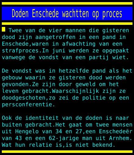test Twitter Media - Doden Enschede wachtten op proces https://t.co/pPZoMr6Doh