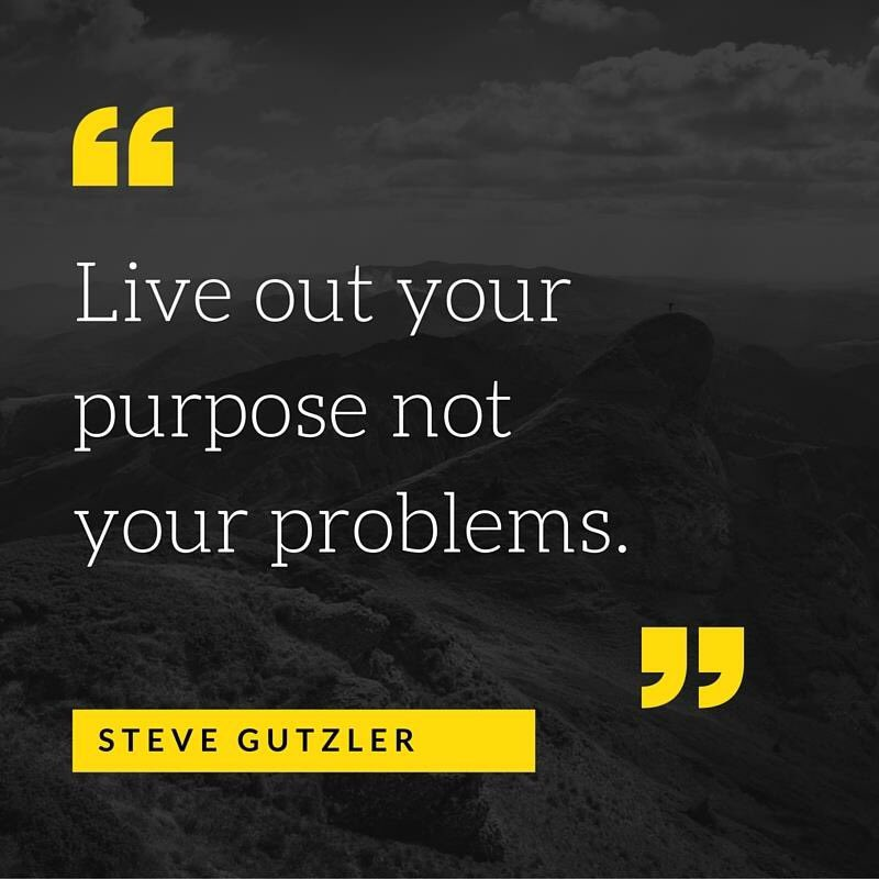 Live out your purpose not your problems. #leadership #SundayMorning https://t.co/U87v3KqOK6