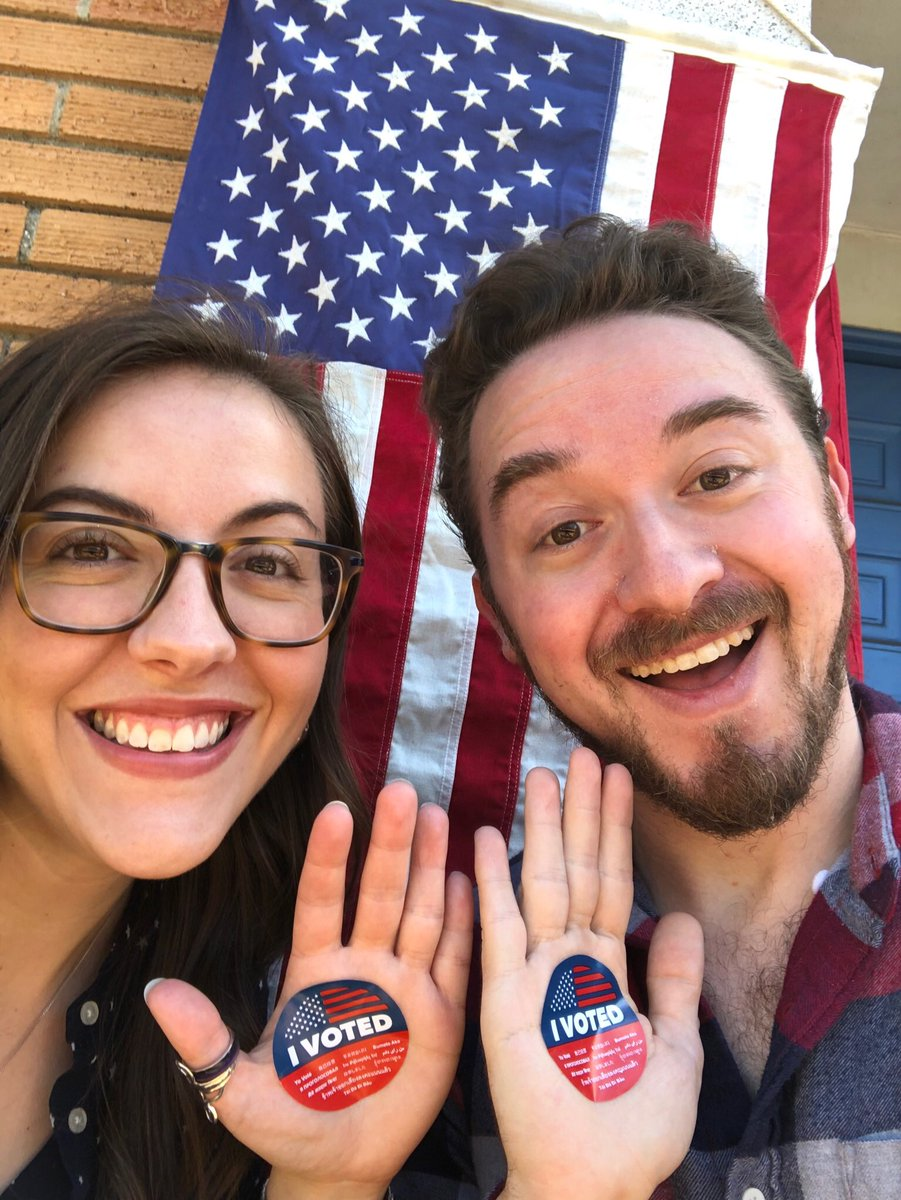 RT @Ariel_Hirsch_: We voted!!! #voted #Midterms2018 @_AlexHirsch https://t.co/YnD9G5LeNS