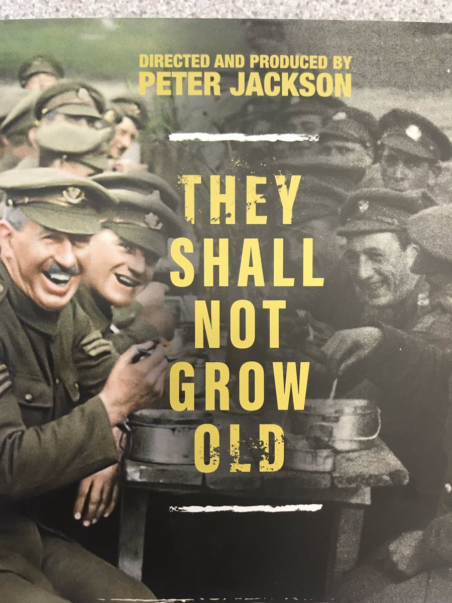test Twitter Media - The History Department will be showing Peter Jackson's WW1 new film on Thursday and Friday at lunch time in C31. 🎞 🎥 https://t.co/pwCONjRXo4