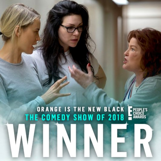 RT @peopleschoice: Congratulations @OITNB for winning The E! People's Choice Award for #TheComedyShow of 2018! #PCAs https://t.co/XHQmu3Rk7n