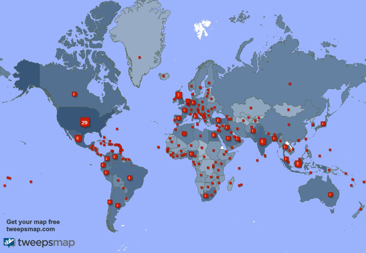 I have 1313 new followers from India, Japan, Argentina, and more last week. See 0NQulsomM0