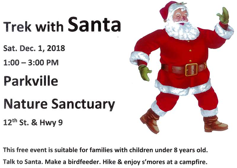 test Twitter Media - The @parkvillemo Nature Sanctuary's annual Trek with Santa will be Saturday, December 1st. This free event is suitable for families with children under 8 years old. Talk to  Santa. Make a birdfeeder. Hike and enjoy s'mores at a campfire. https://t.co/jaTpw7mEBn