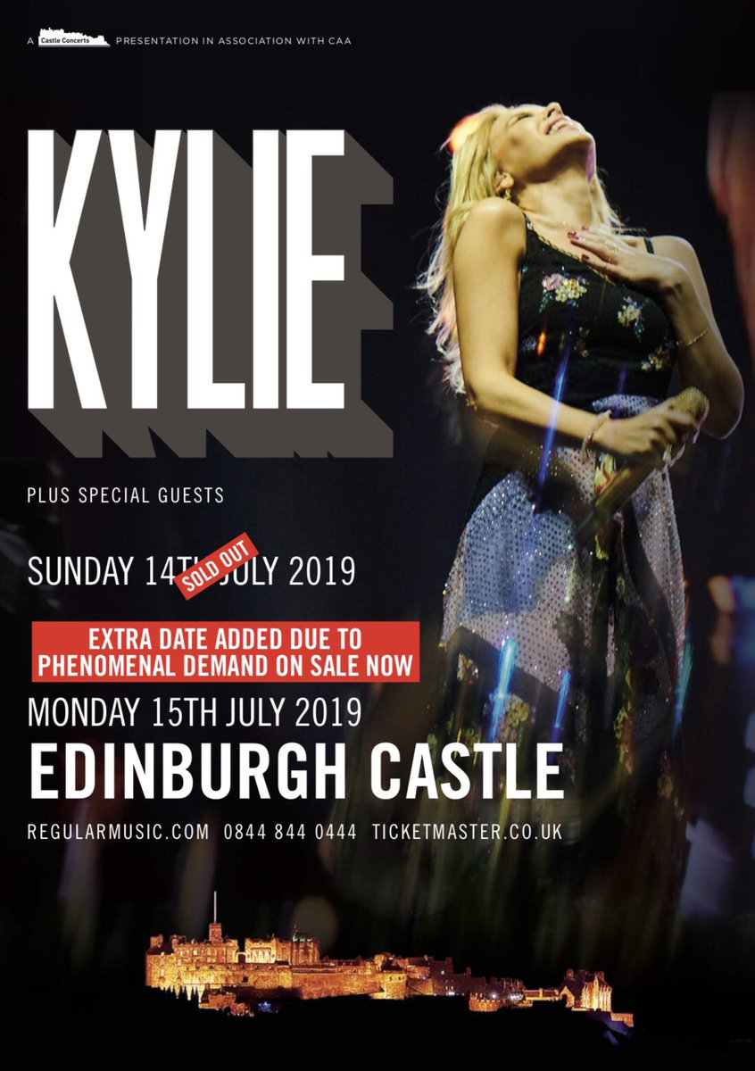 Lovers, we've added an extra #KylieSummer2019 show in Edinburgh, on sale now! ????????????????????????????https://t.co/ylGylLrOp2 https://t.co/LZu3EyKxwv