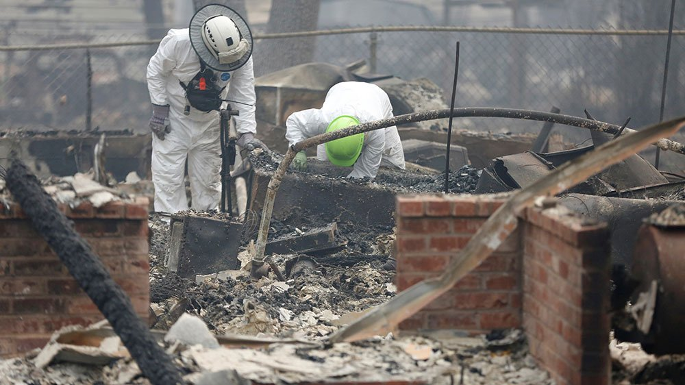 Northern California wildfire: Death toll at 71, more than 1,000 reported missing