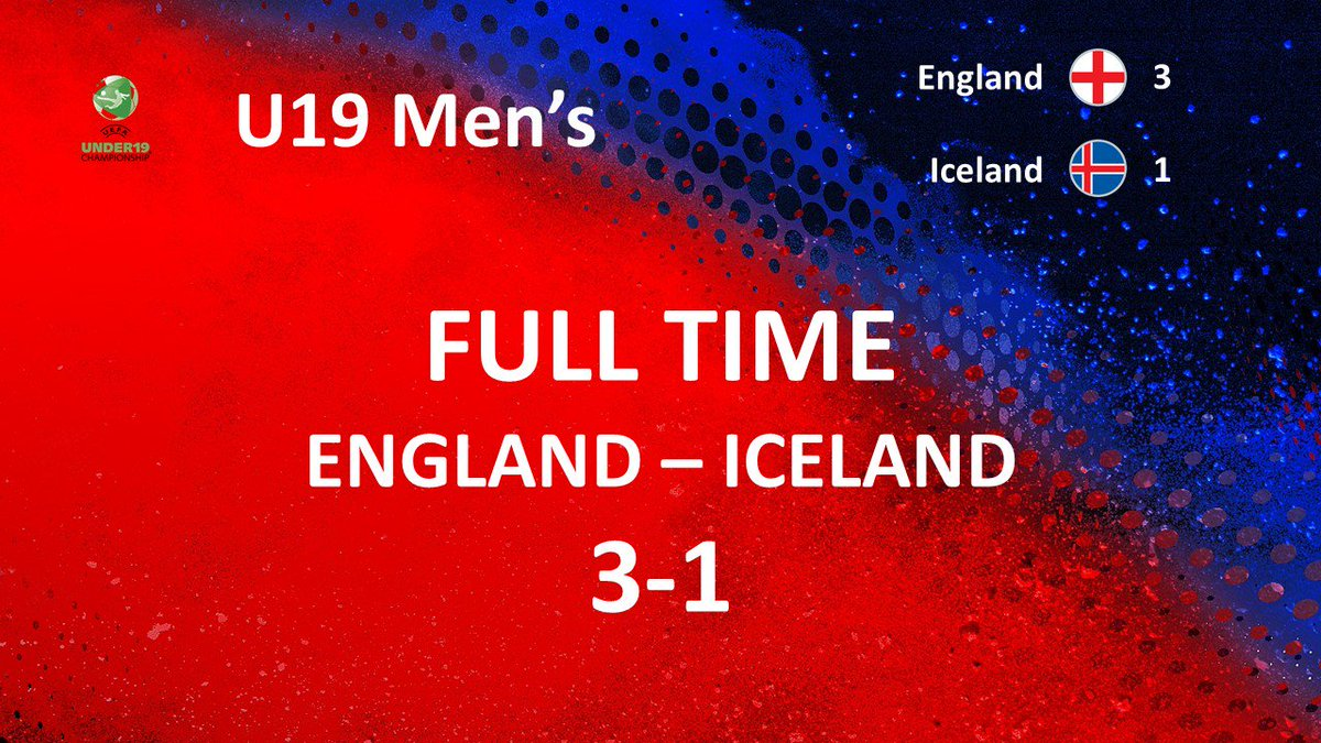 RT @footballiceland: Final results in Manavgat today 3-1 for England https://t.co/gpznmcQjFr