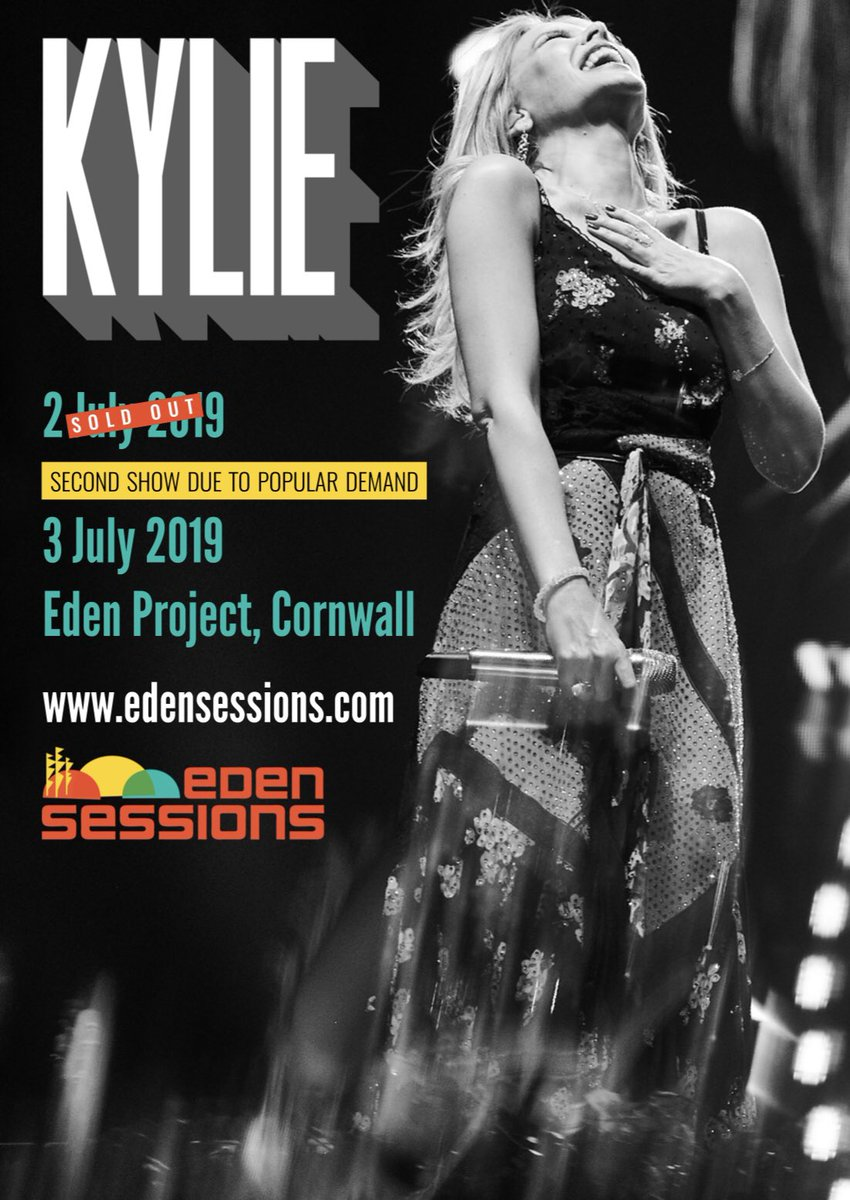 Lovers, we've just added a 2nd @TheEdenSessions #KylieSummer2019 show! ???? Details at https://t.co/GVg4T8ca9n https://t.co/45mmyt5WRR