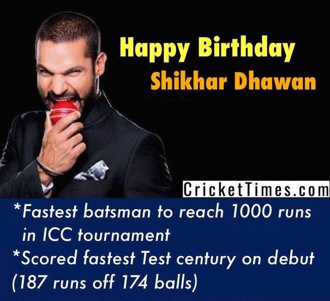 Happy Birthday, Shikhar Dhawan