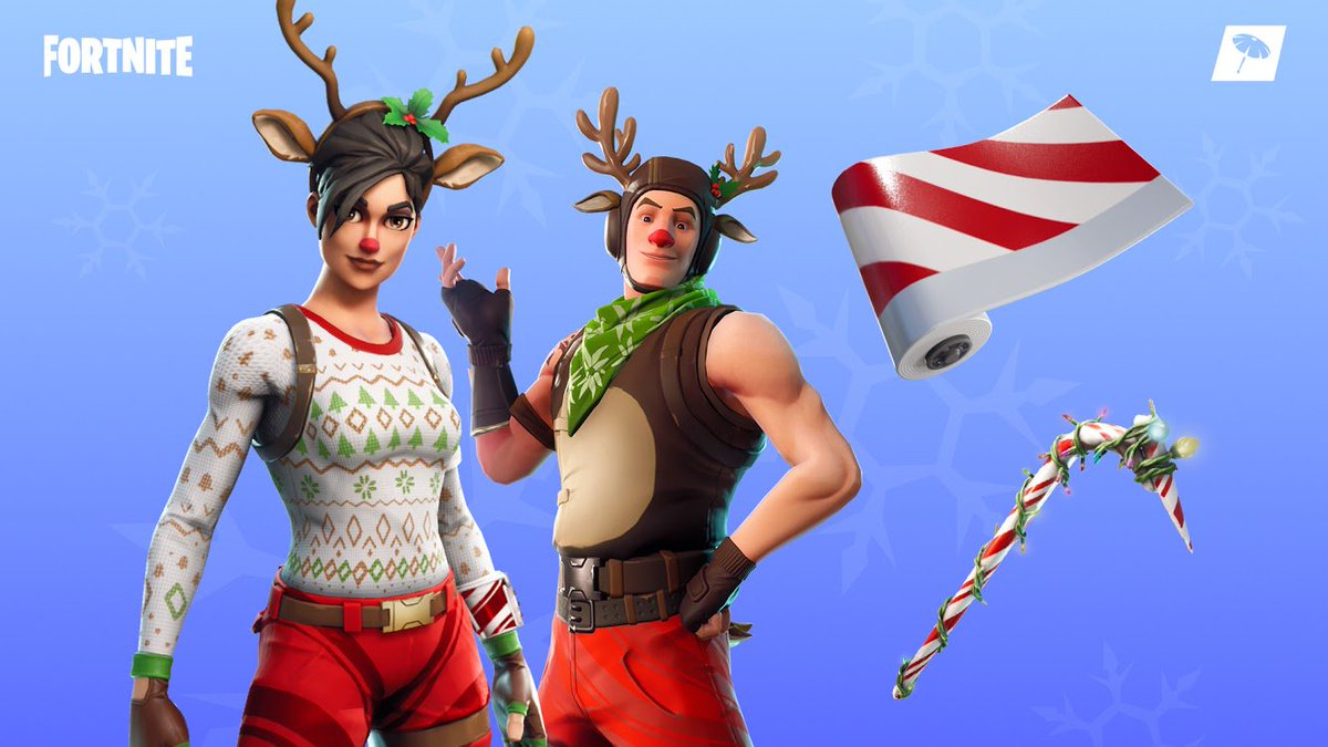 test Twitter Media - Festive Candy Cane Wrap is on the way, with the Red-Nosed Ranger leading Santa's sleigh. 🎅 There's the Candy Axe and Red-Nosed Raider, too. The Item Shop is bright and new! https://t.co/D1t31XZTMr