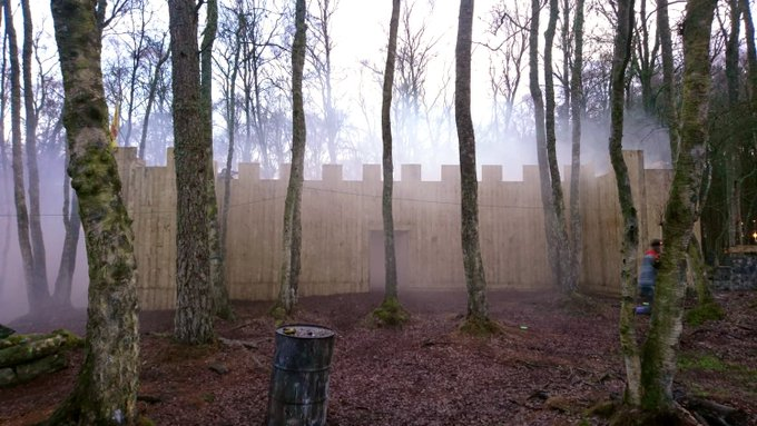 Image for Our last games of 2018 on site today and the castle was shrouded in low lying cloud all day - no need for smoke grenades for cover today! #lasertag https://t.co/PPfCe8tdUf