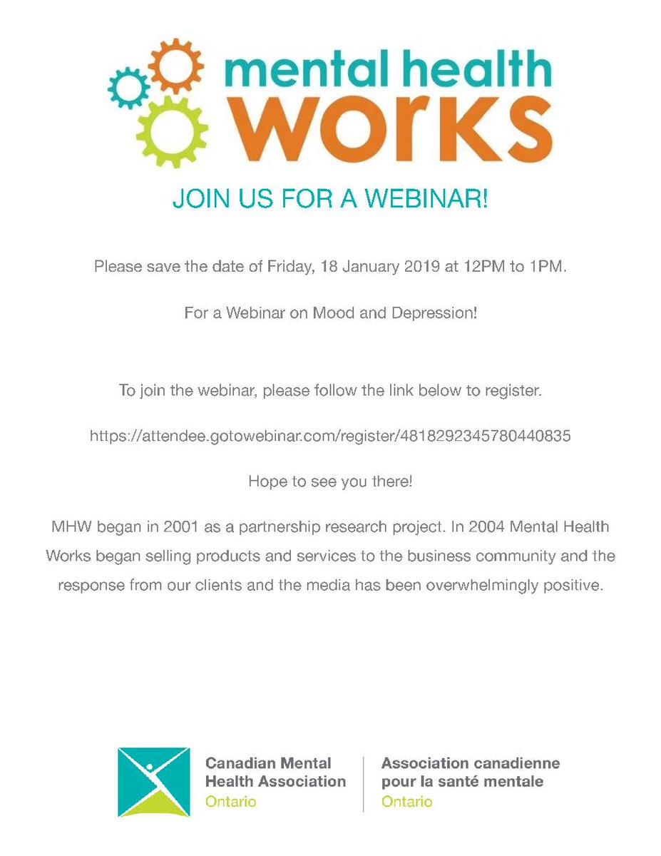 test Twitter Media - RT @CMHA_MHWorks: Join us for a webinar this Friday!  See link: https://t.co/3ZqzBDOY7A https://t.co/VroUfHRlPB