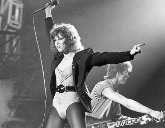 Happy Birthday to Pat Benatar!   Somewhere, Mary Ann Zlotnick in the red tights is celebrating.
