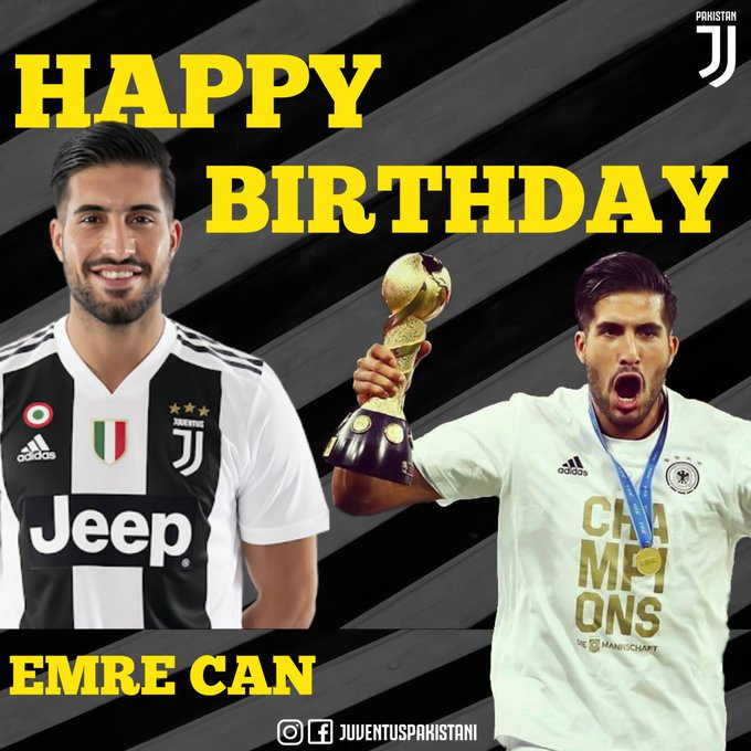 Happy birthday Emre Can, who turns 25 today!
