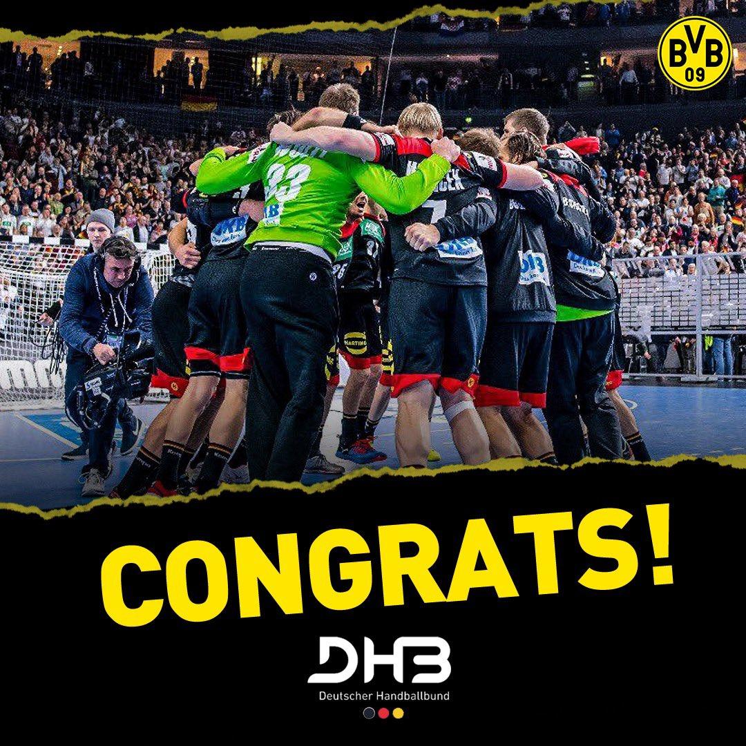 Congratulations @DHB_Teams on reaching the World Championship semis! 🤾🏼♂️🔥 https://t.co/ZaFbG9kV87