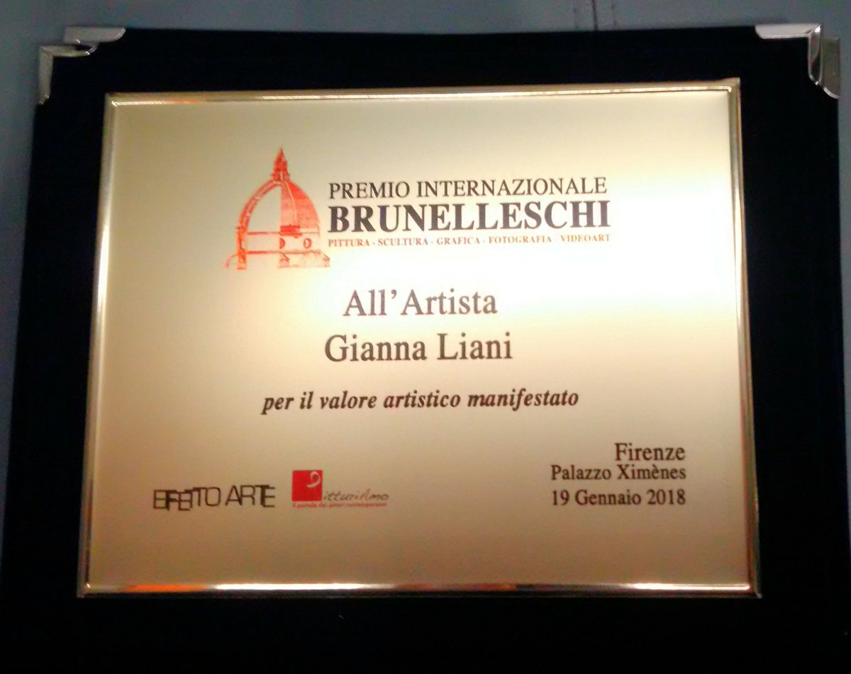 "test Twitter Media - Premio Internazionale ""BRUNELLESCHI"" all'Artista Gianna Liani FIRENZE - Palazzo Ximènes - Firenze 19 Gennaio 2018 https://t.co/PDVTmabgSA"